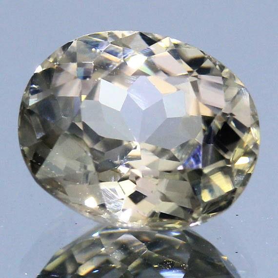 100% Natural 3.75 Ct.Handcut Faceted Loose Gemstone Zircon Oval Champagne Semi Precious Stone