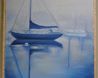 Sailboat original oil 18x24
