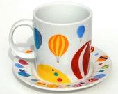Hot Air Balloon Mug And Plate Set