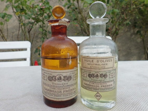 1900 - 1910 Small apothecary bottles Darrasse Fréres