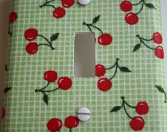 Decorative Switchplate Covers, Decorative Light Plates, Retro Kitchen, Kitchen Decor, Cherry, Cherries, Kitsch