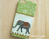 Elephant on Green iPhone 6S case iPhone 6 case iPhone 5S case iPhone 5 case iPhone 4S case iPhone 4 case