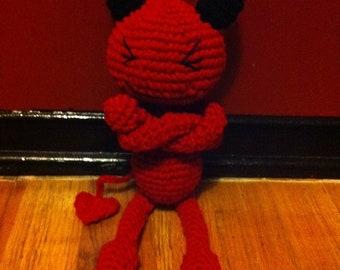 Crocheted Red Devil
