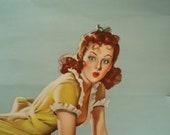 "Vintage Elvgren ""Belle Ringer"" Pin Up Poster"