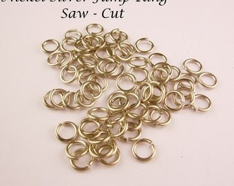 Nickel Silver Solid Jump Ring 20 Ga Wire 2mm I/d 200 pcs .Saw Cut Made In USA