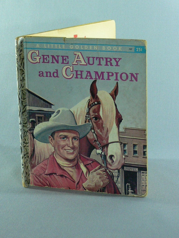 SALE - Gene Autry - Little Golden Book - 1956 -  MG-036