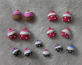 Cup Cake embellishments for card making (pack of 14)