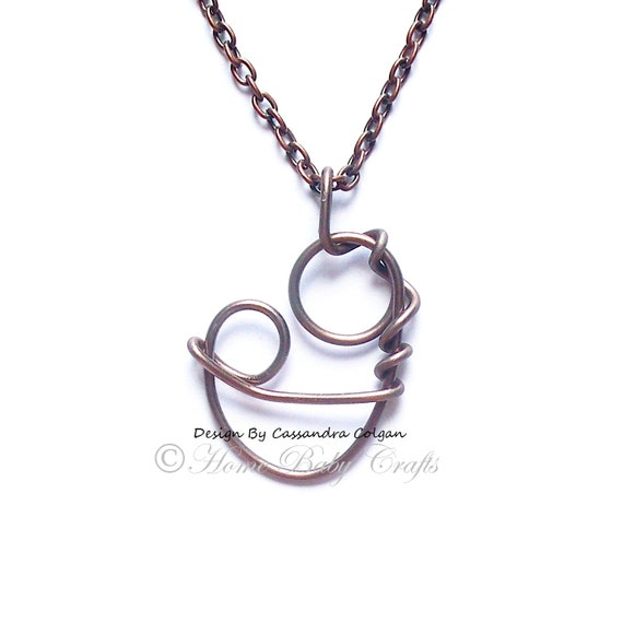 Mother and Child Abstract  Birthstone Necklace- Gift for Mom, Mother's Day, Blessing Way
