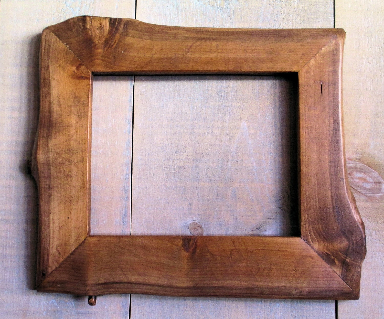 Wooden Frame Glasses Nz : Handmade Rustic Wood Frame 7 1/2x9 3/4 Golden Oak