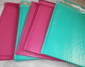 10 Teal and Pink 10.5x15.5 large Bubble Mailers, Size-5 Large Padded Self Adhesive Wholesale Padded Mailer Envelopes