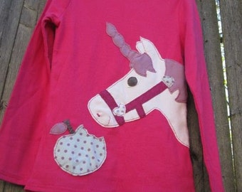 Who Ate My Apple Cheeky Unicorn Kids T shirt Fairytale Creatures