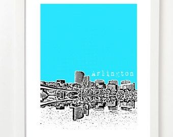 Arlington, Virginia Skyline Poster - Arlington VA City State Art Print - Arlington Nursery Art -