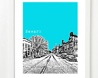 Newark, Delaware Poster - Newark City Skyline Series Art Print