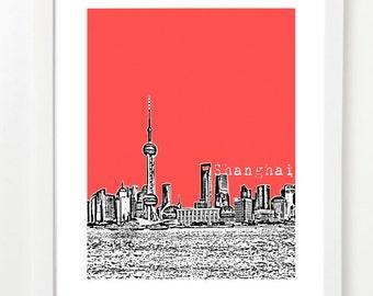 Shanghai City Skyline Art Print - Shanghai Poster