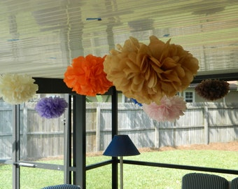 15 Tissue Paper Pom Poms -Birthday/Wedding Shower/Baby Shower/Bridal Shower