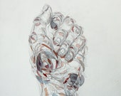 Fist Hand, Original Drawing