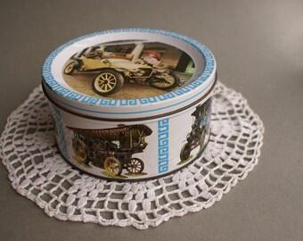 Vintage John Mackintosh &Sons Ltd Round Metal Sweets Bisquits Tin