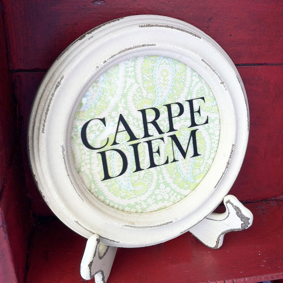 Carpe Diem Decorative Wood and Vinyl Decor