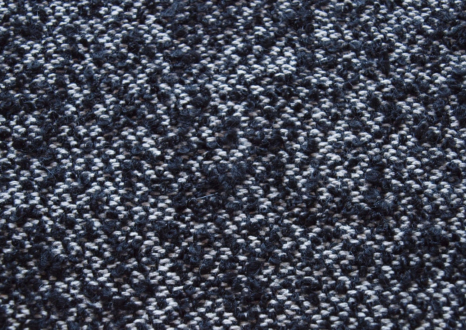 Swatch 3 X 7 Big Tweed Wool Fabric Black And