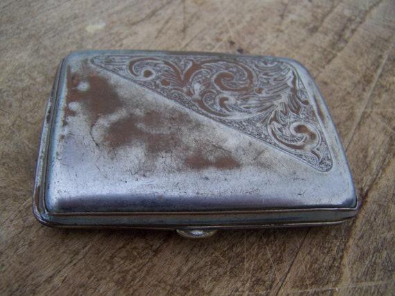 Vintage Metal Cigarette Case