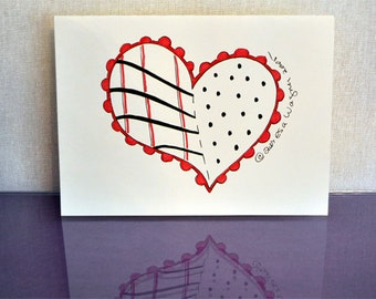 Pattern Heart Greeting Card (set of 6)