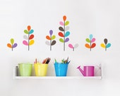 African Flowers - colored kid wall decal