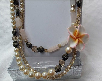 Peach Blossom for the Bride necklace