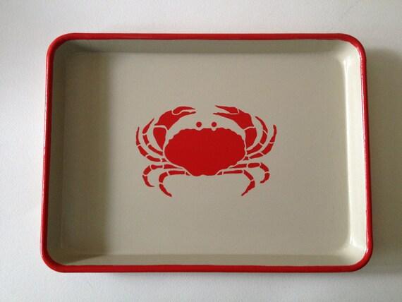 M red crab khaki tray