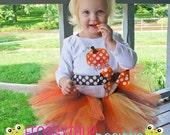 FALL ThAnKsGiViNg Little Pumpkin Bodysuit or Shirt Diaper Cover Bloomer and Tutu Skirt Outfit for Little Girls - Custom
