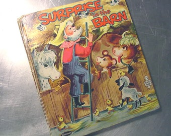 Tell a Tale Book Surprise in the Barn RARE COVER Version