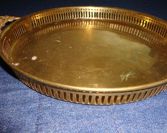 Vintage Antique Brass Vanity or Serving Tray