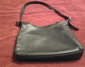 Black Leather Vintage Coach Very Roomy