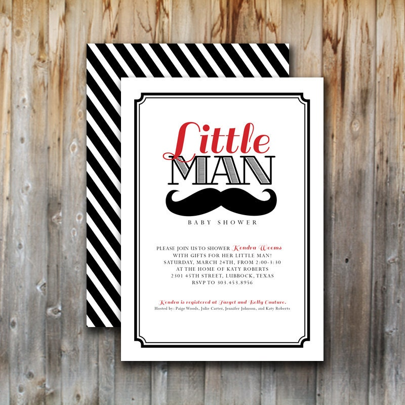 items similar to baby shower invitation little man mustache bash