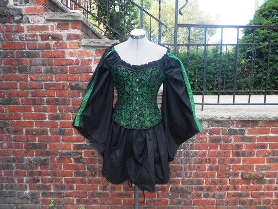 Custom made ladies half length medieval angle sleeve chemise with trim medieval chemise renaissance shirt costume Made To Order MTO