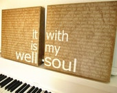 It Is Well With My Soul,12x12- 2 piece, Latte' canvas prints