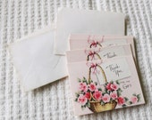 "Vintage Unused ""Thank You"" cards-Set of 5"
