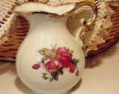 Vintage Porcelain Pitcher Cottage Chic