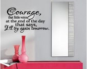 Courage Vinyl Decal