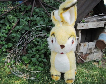 Vintage Stuffed Bunny  Sweet Yellow and Brown 16inches tall  :)