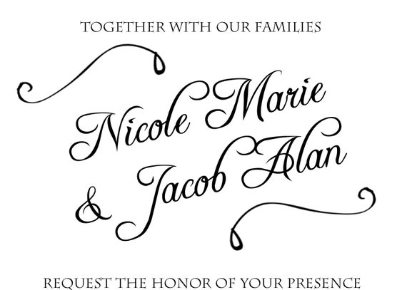 Classic Black and White Wedding Invitation, DIY Printable, digital file (item 1046)
