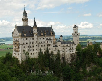 Neuschwanstein Castle in Germany, European art, architecture, 11 x 14 photograph