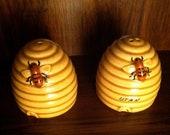 Bee Hive Salt & Pepper Shakers