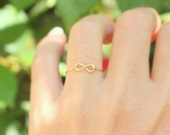 Infinity Ring -  Best friend infinity ring, sister rings,14k gold filled handmade wire ring , knuckle ring, gold ring,simple gold ring