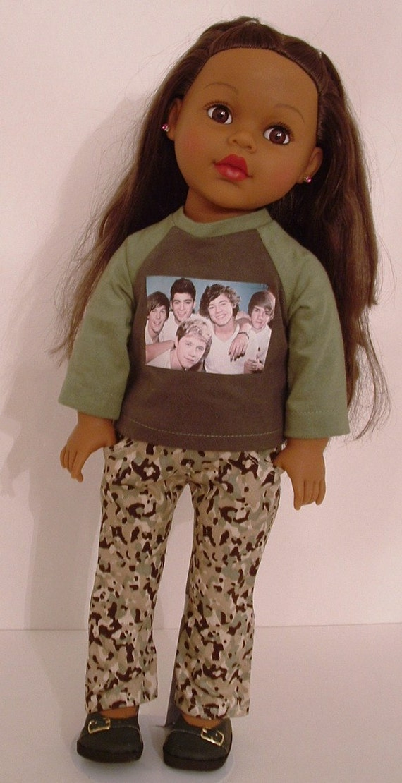 One Direction Tee and Camo Skinny Jeans