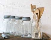 reserved for cj --  mason star jars set of 5 country minimal and modern farmhouse kitchen decor-display containers or drinking glasses