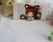 wall hanging for miniatures featuring picture of  accessorried picture of Latti doll