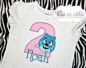 Personalized Embroidered Toodee Birthday Shirt