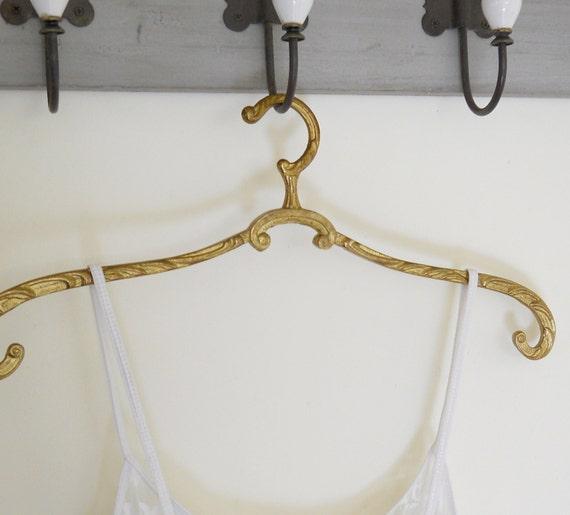 1 antique brass clothes hanger vintage coat hanger antique