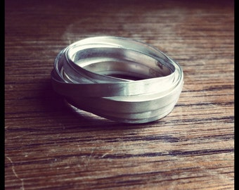 Sterling silver flat wire ring