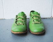 Vintage Lime Green Hush Puppies Sneakers Size 8-8.5
